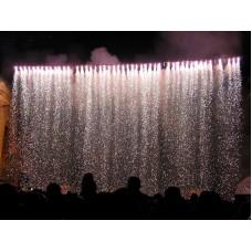 Дорожка из фонтанов с водопадом